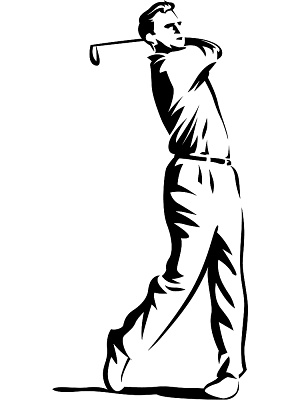 300x400 Golf Course Clipart Golf Swing