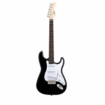 340x340 Gainer Black And White Electric Guitar Stratocaster With Cloth Bag