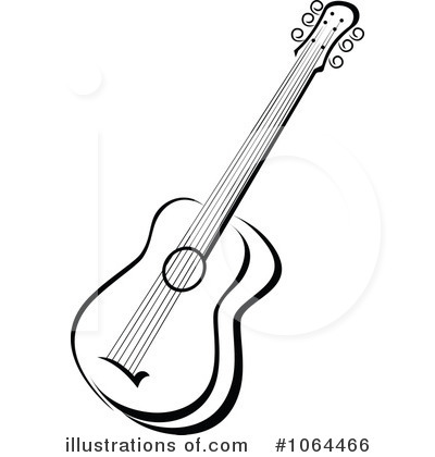 400x420 Guitar Black And White Clipart