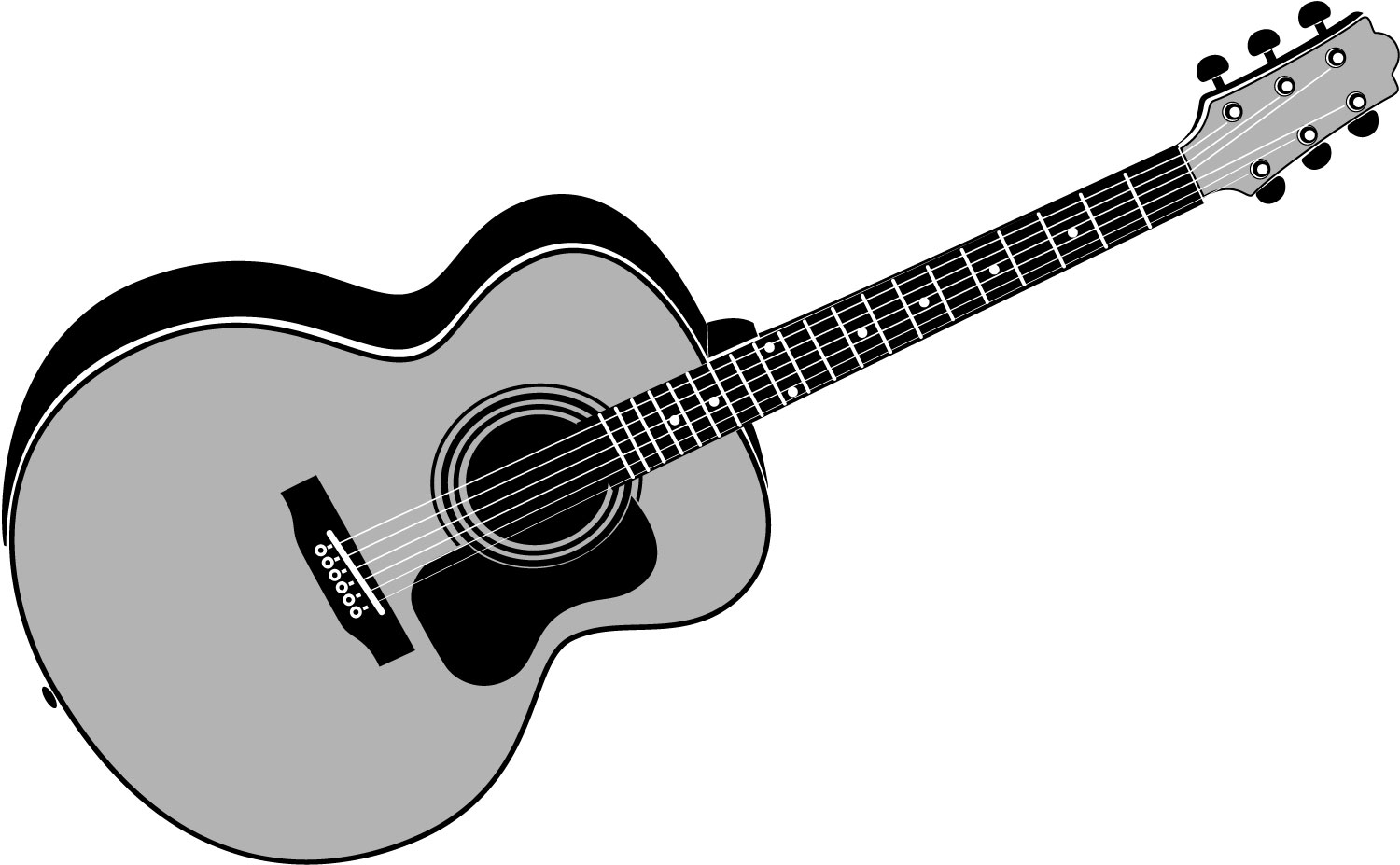 1500x927 Guitar Black And White Guitar Clipart Black And White Clipart 4