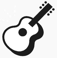 224x227 Black And White Guitar Clipart Clipartwiz 2