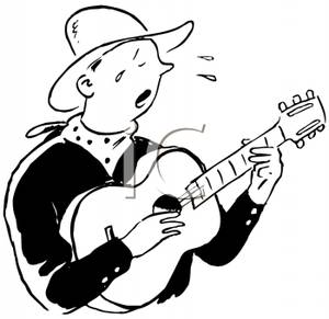 300x291 Crying Cowboy Singing A Song And Playing The Guitar