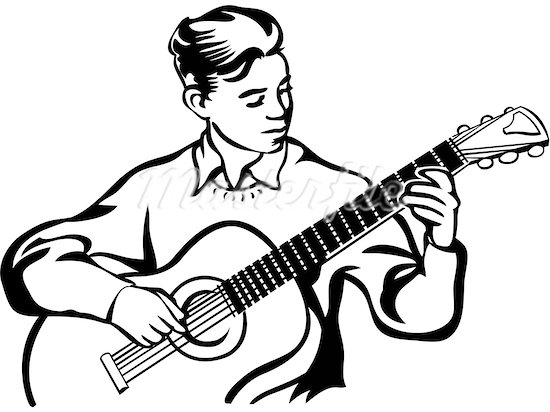 550x412 Free Playing Guitar Clipart Image