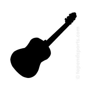 300x300 Guitar Black And White Black Guitar Clipart Clipartfest
