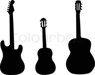 320x252 Vector Background With Guitar Clip Art Stock Vector Colourbox