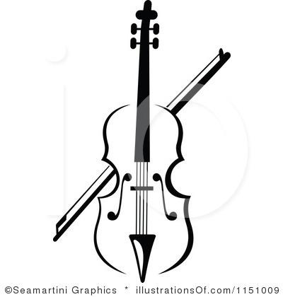 400x420 Violin Black And White Clipart