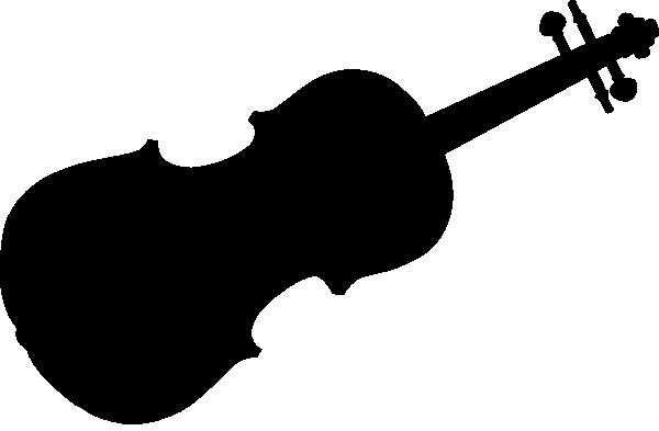 600x393 Violin Silhouette Clip Art Free Vector 4vector
