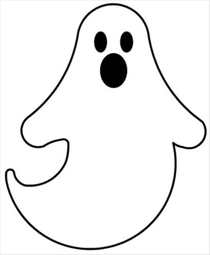 412x500 Halloween Clip Art Black And White Ghost