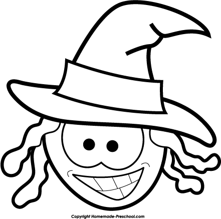 441x437 Halloween Black And White Black And White Halloween Free Clipart 2