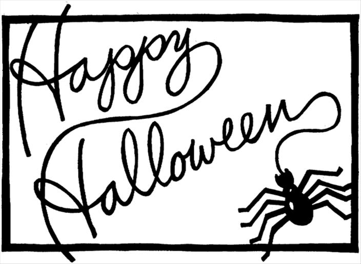 704x515 Happy Halloween Clipart Black And White