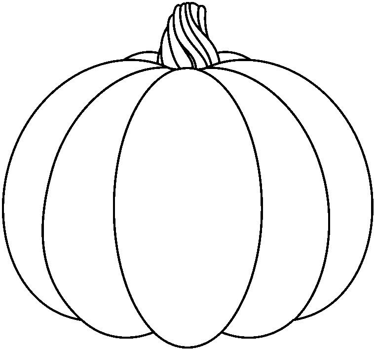 758x708 Pumpkin Black And White Halloween Clipart Pumpkin