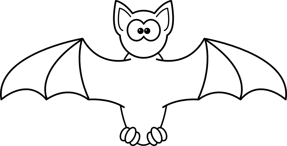 999x509 Clip Art Bat Black White Art Zeke Halloween Svg