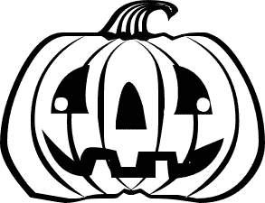 293x225 Free Black And White Halloween Clipart