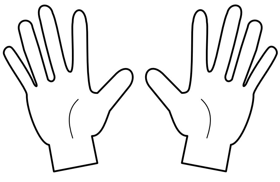 899x586 Finger Clipart Black And White