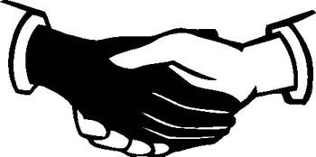350x174 Hand Black And White Shaking Hands Clipart Black And White