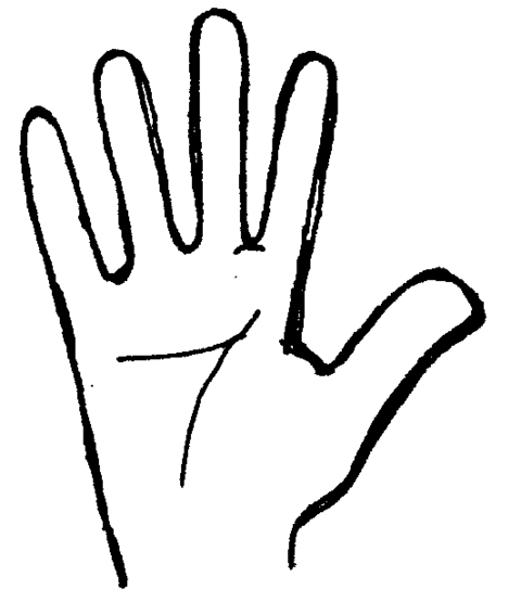 480x567 Black Amp White Clipart Hand