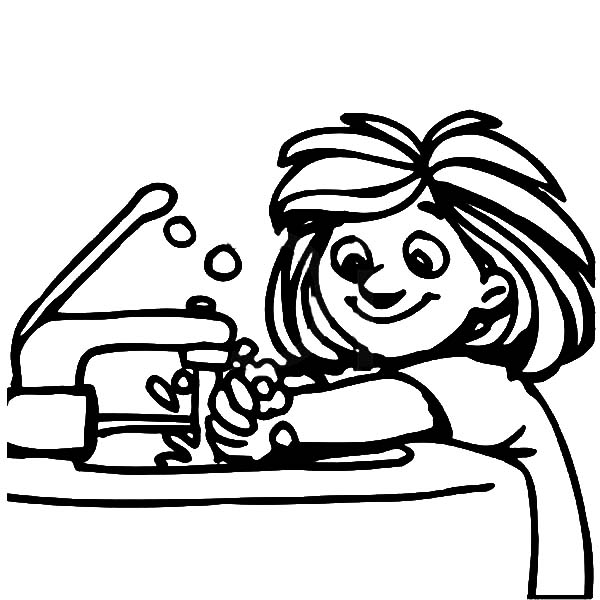 600x600 Hand Washing Clipart Black And White
