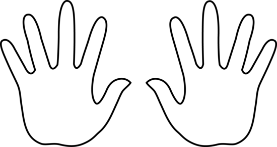 550x293 Hands Clipart Black And White