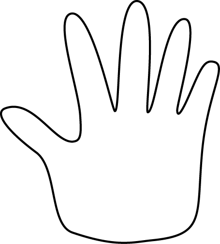 455x504 Helping Hand Clipart Black And White Clipart Panda