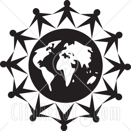 450x450 Shaking Hands Black And White Clipart