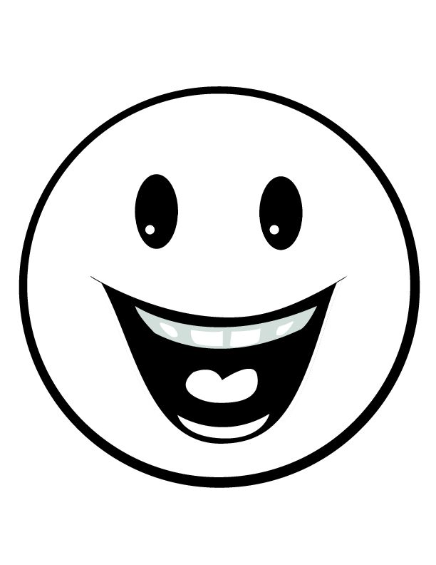 612x792 Smiley Face Black And White Smiley Faces Clip Art