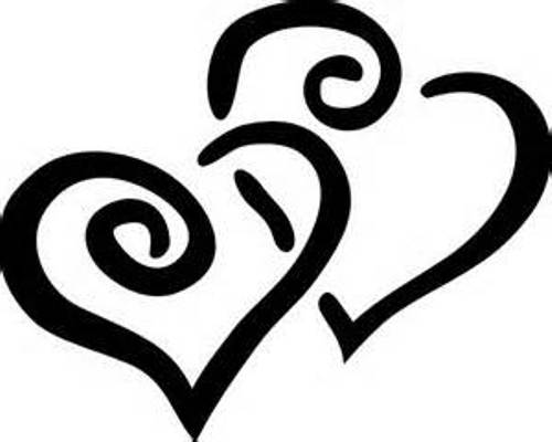 500x400 Black And White Hearts Clipart
