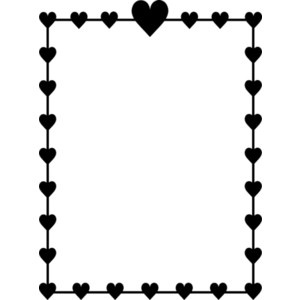 300x300 Valentine Border Clipart Black And White Letters Example