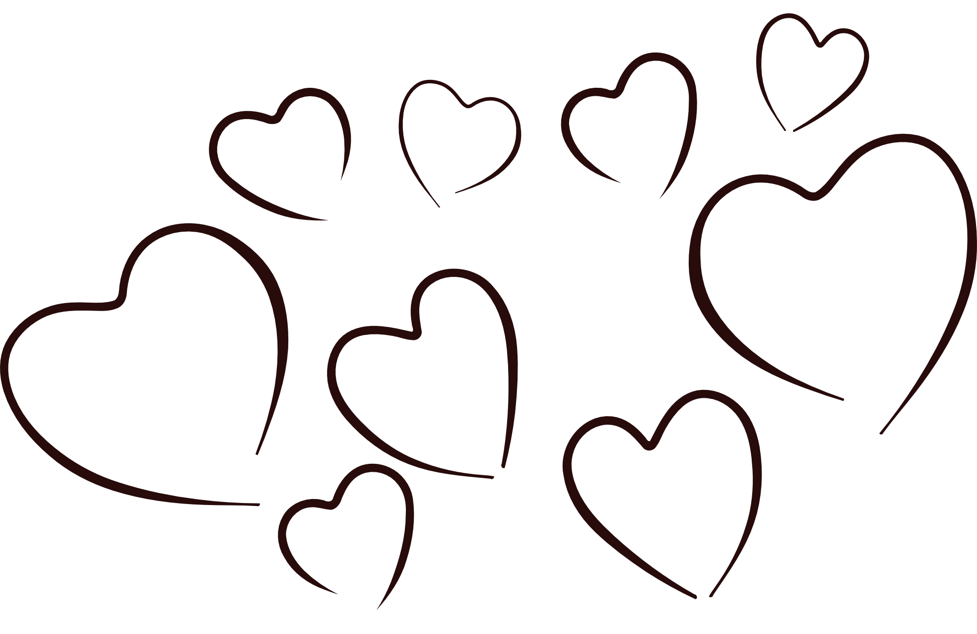 1969x1278 Black And White Heart Clipart