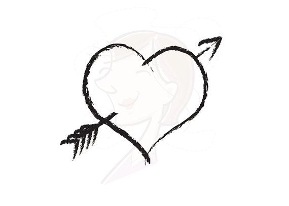 570x407 Hearts Clipart Arrowed