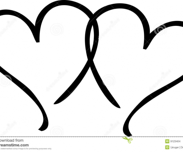 600x500 Lovable Clip Art Two Hearts Clipart Two Hearts Clip Art