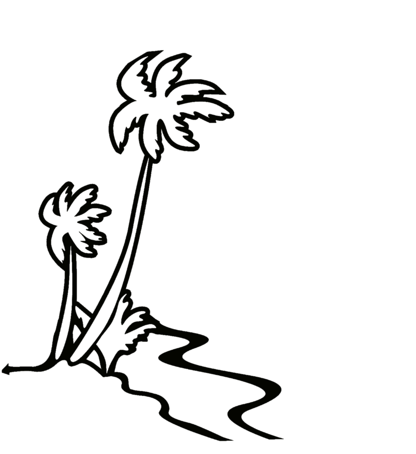 1375x1500 Hawaii Clipart Black And White