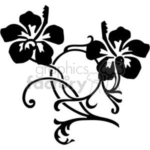 300x300 Royalty Free Hibiscus Flowers 380083 Vector Clip Art Image