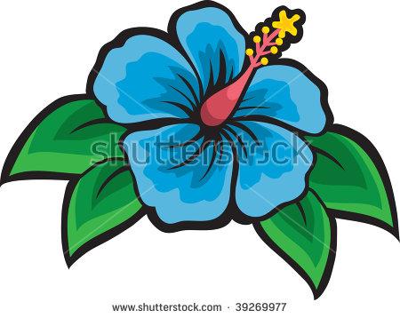 450x358 White Hibiscus Flower Clipart