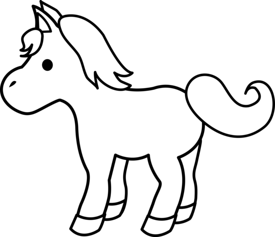 550x474 Free Horse Clipart Black And White Image