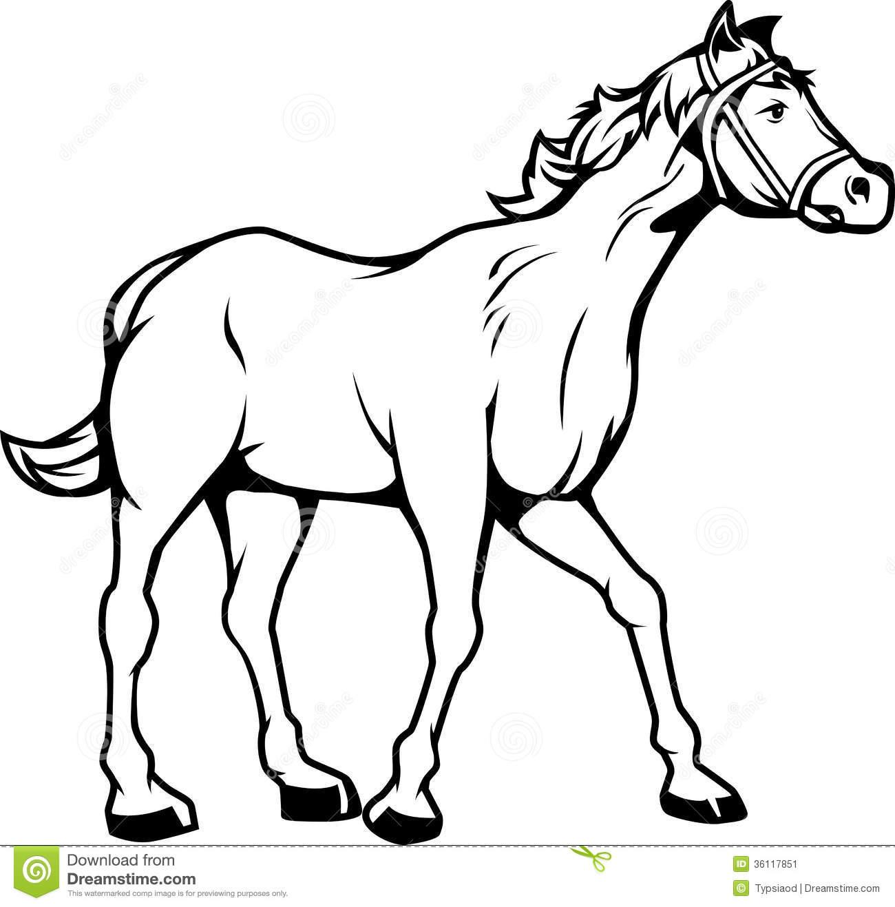 1300x1317 Black Amp White Clipart Horse