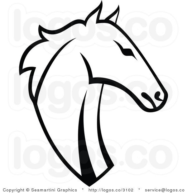 600x620 Black Horse Head Clipart