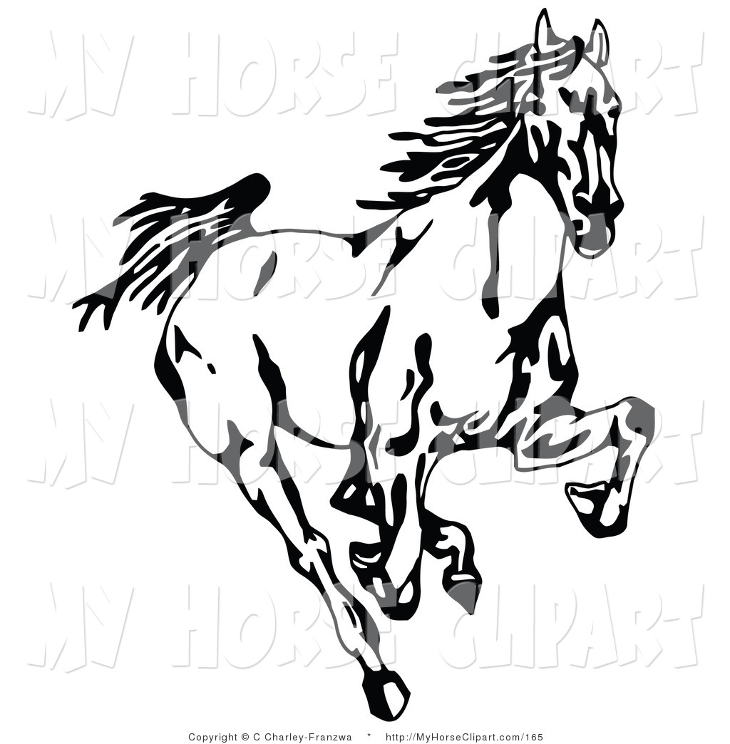 1024x1044 Mustang Horse Black And White Clipart