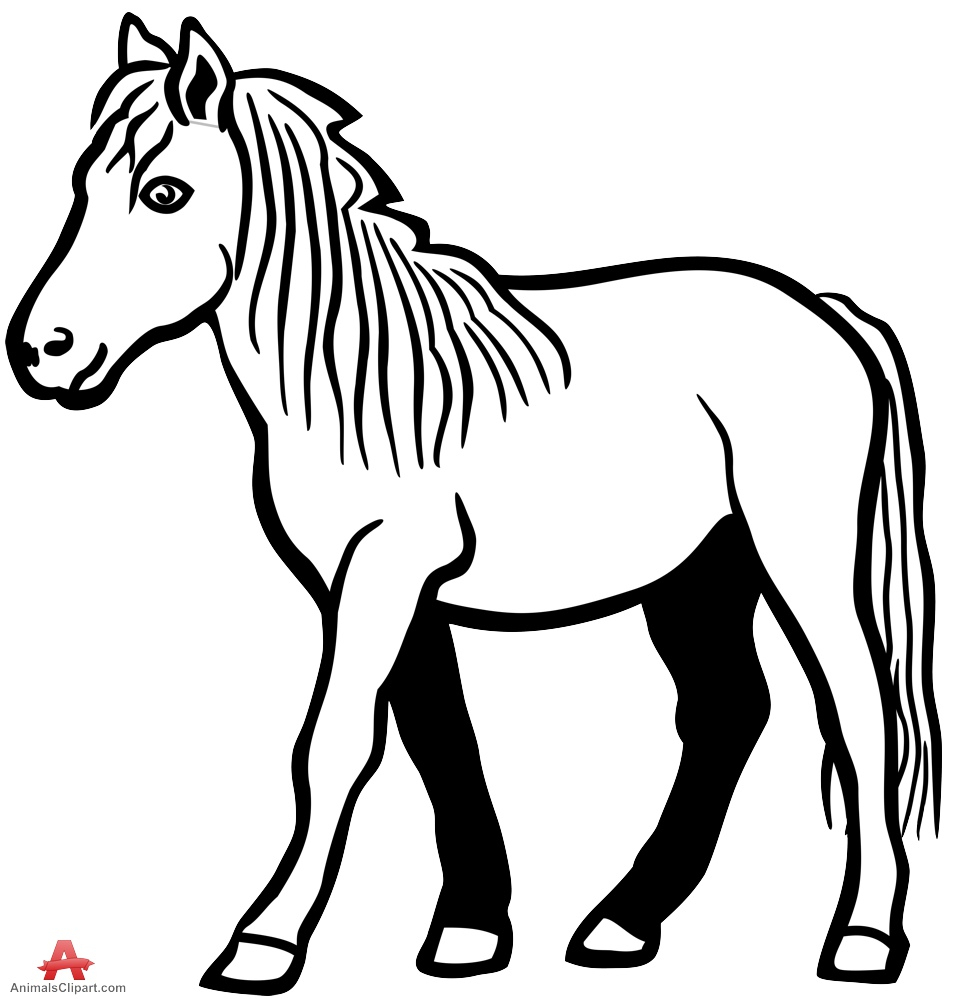 954x999 Outline Drawing Of A Horse Drawing Outline Of Horse In Black