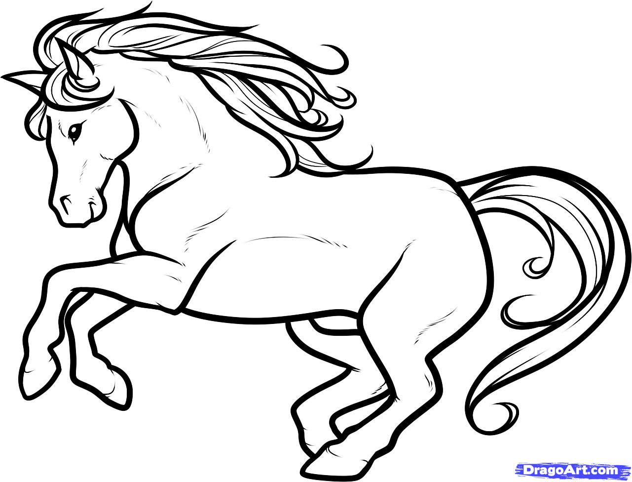 1281x976 Stallion Clipart Black And White