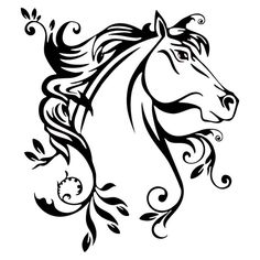 236x236 Black And White Horse Drawings