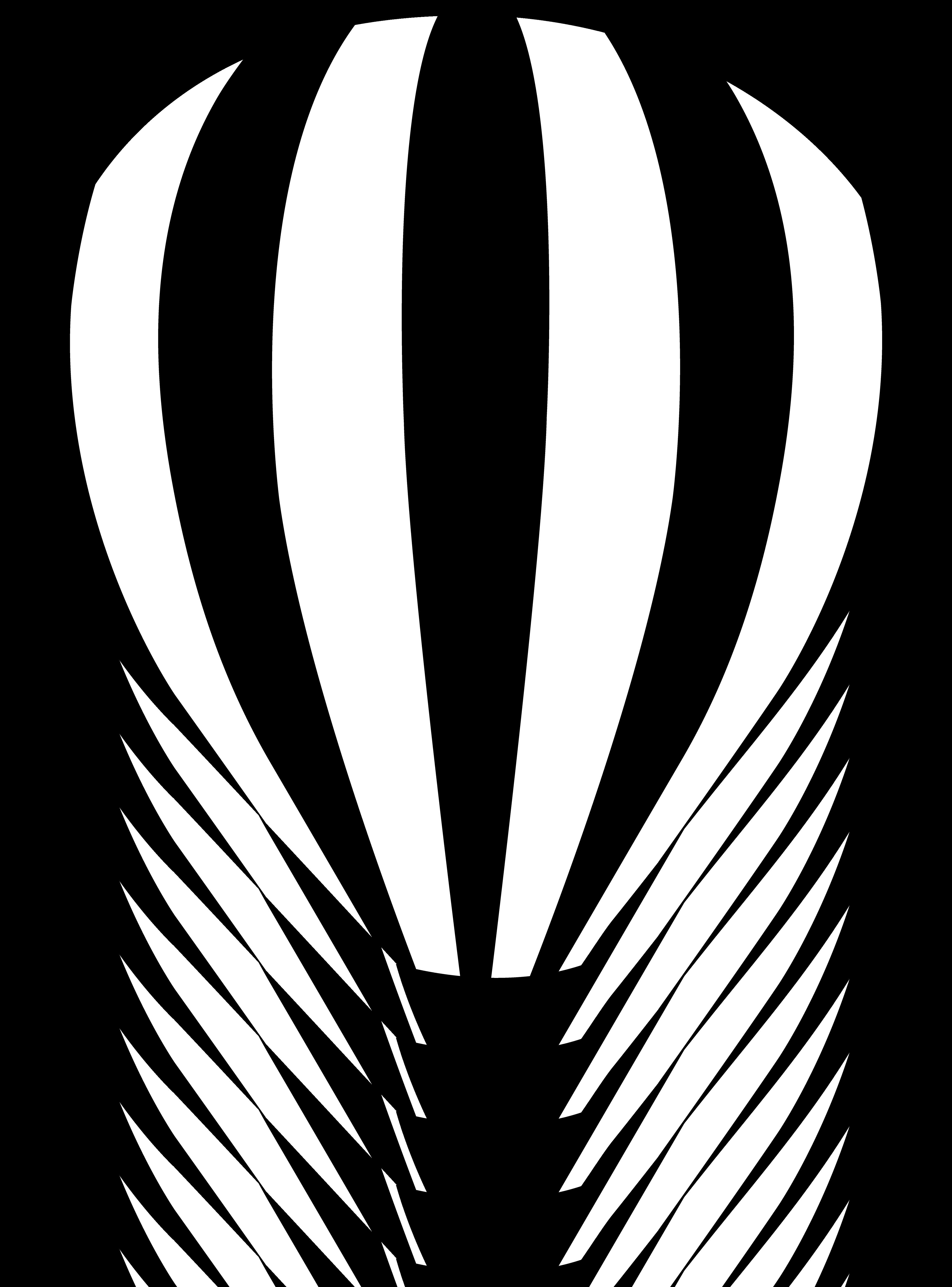 4114x5559 Hot Air Balloon Striped Silhouette