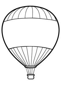200x282 Hot Air Balloon Clipart Colouring Page