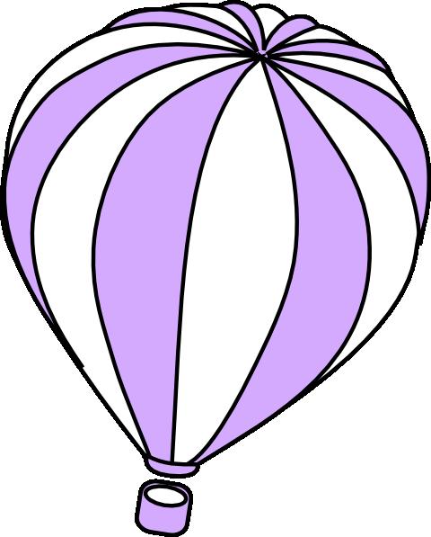 480x597 Hot Air Balloon Clipart Purple