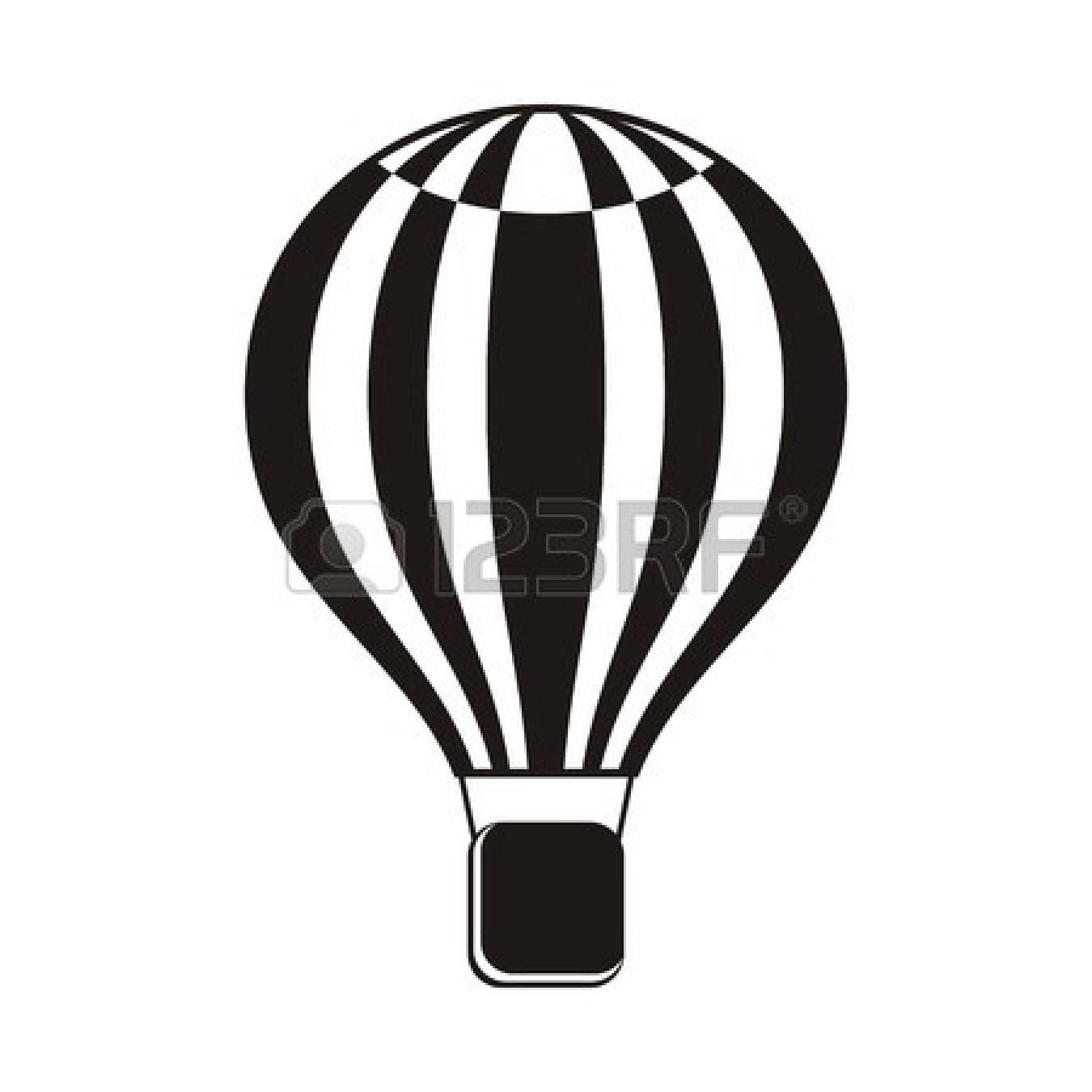 1350x1350 Hot Air Balloon Black And White Black And White Hot Air Balloon