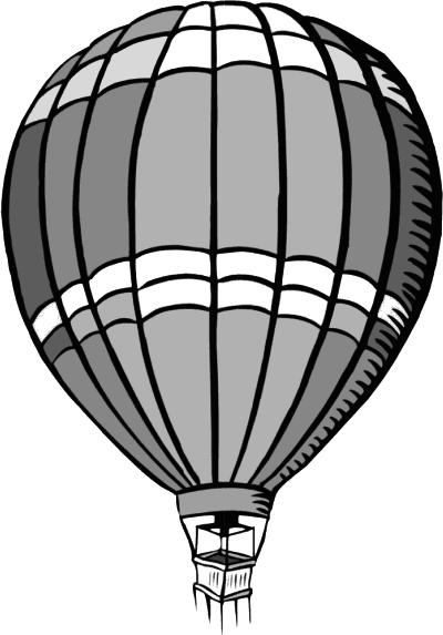 400x573 Hot Air Balloon Black And White Hot Air Balloon Clip Art Download