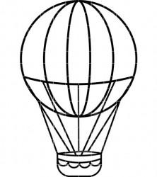222x250 Balloon Clipart Outline