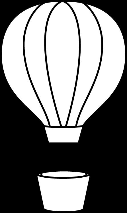 446x747 Black And White Hot Air Balloon Clip Art