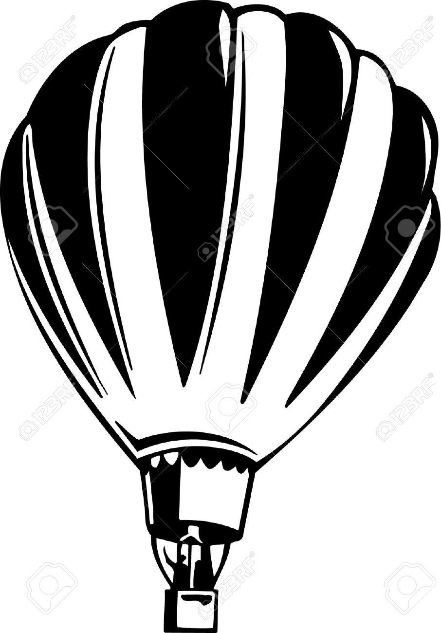 906x1300 Clip Art Hot Air Balloon Clip Art Black And White