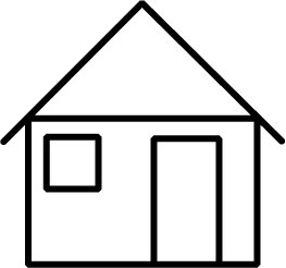 263x246 House Black And White House Clipart Black And White Clip Art