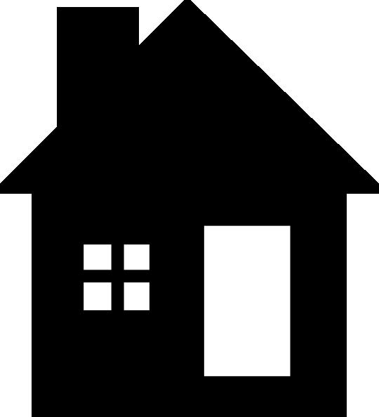 540x594 Blackwhite House Clip Art